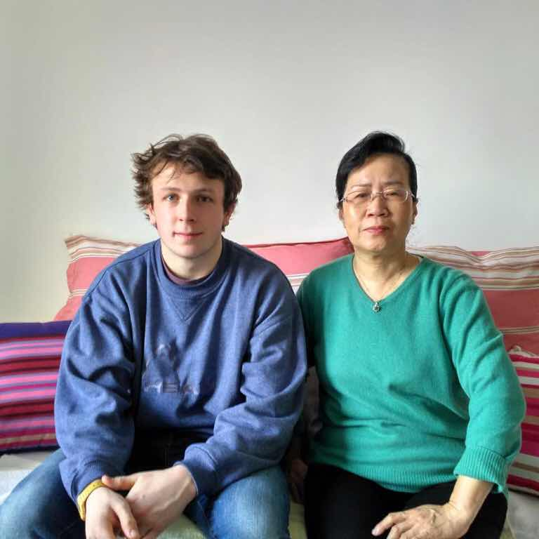 William with homestay Mom Ms Su in Beijing