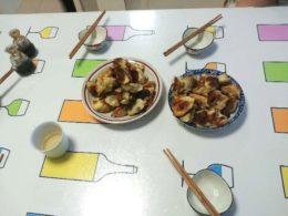 Middag hos värdfamilj i Chengde