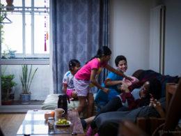 Kul med familj i Peking