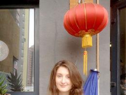 Tar en kort rast från lektioner i kinesiska