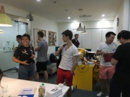 Receptionsområdet i skolan i Shanghai