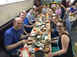 Välkomstfrukost på LTL i Peking