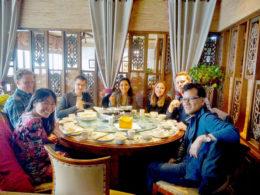 Middagstid för eleverna på LTL Shanghai