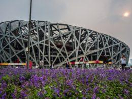 Fågelboet idrottsarena från olympiska spelen i Peking 2008