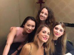 Pekingankamiddag för Marie, Jasmine, Annalisa och Cristina