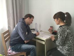 Lektion i kinesiska med läraren Tina i Chengde