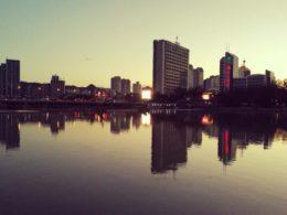 Solnedgång i Chengde