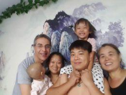 Elev från LTL med en värdfamilj i Chengde