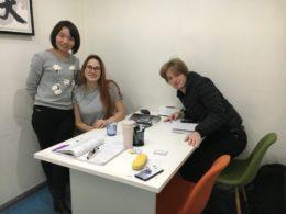 Lektion i kinesiska för två i Shanghai