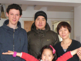 Vår värdfamilj i Peking