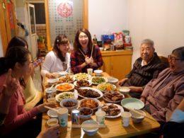 Middag med den utökade familjen!