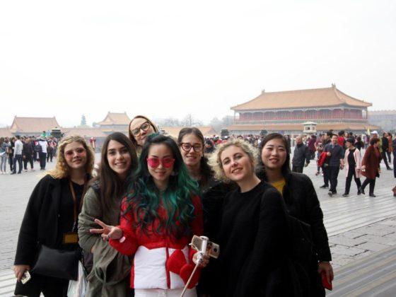 Våra italienska gymnasieelever utforskar Peking