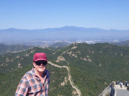 Tar en paus på kinesiska muren