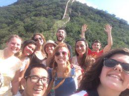 Dags för en selfie på kinesiska muren