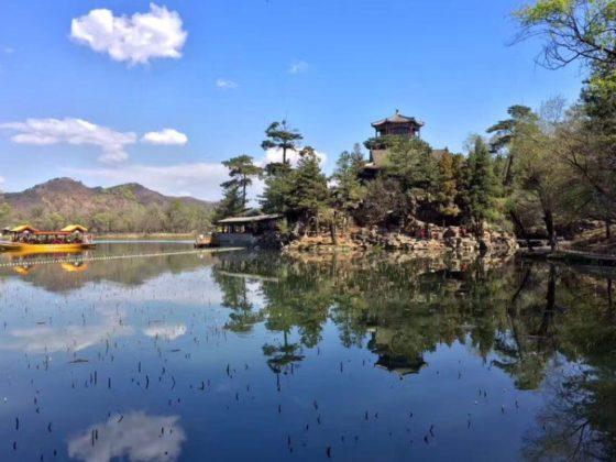 Vacker vy i Chengde