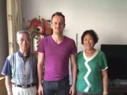 Fabian med hans värdfamilj