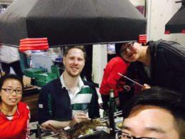 Delar middag i Chengde