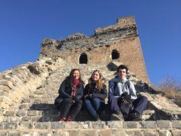 Kinesiska muren - Jocelyn, Katrin och Nicolas