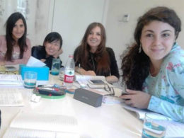 Sofia och hennes italienska elever