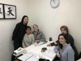 Grupplektioner i Shanghai