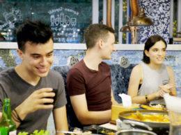 Middagstid i Shanghai