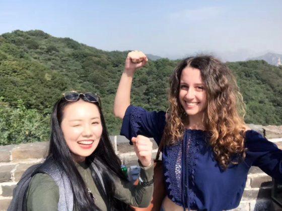 Marie och Jasmine erövrar kinesiska muren