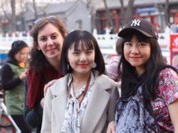 Irene med hennes kinesiska vänner
