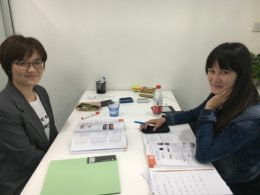 Studerar mandarin i Kina