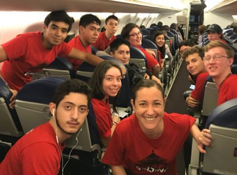 On the way to LTL Beijing - Mexican high school students ready for their adventure