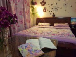Sovrum hos värdfamilj i Peking