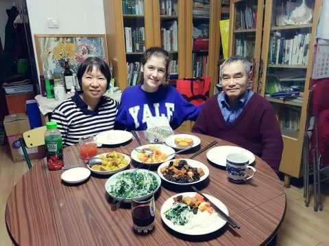Savannah with her Homestay Family