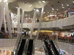 Shoppingcenter i Shanghai är ganska stora