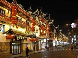 Gamla staden i Shanghai
