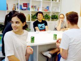 Sällskapsrum på skolan i Shanghai