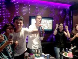 KTV och fest för våra elever i Shanghai